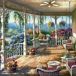 Пазл онлайн: Красивая терраса