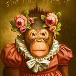 Пазл онлайн: Забавная обезьянка