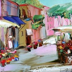 Пазл онлайн: Цветочный базар