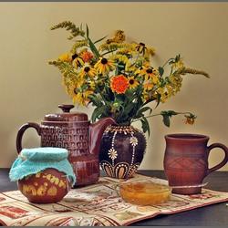 Пазл онлайн: Натюрморт с медом