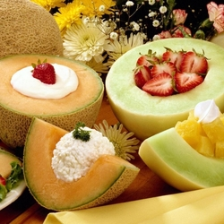 Пазл онлайн: Дыни на десерт