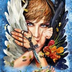 Пазл онлайн: Ангел или...