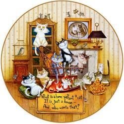 Пазл онлайн: Что за дом без кошки?