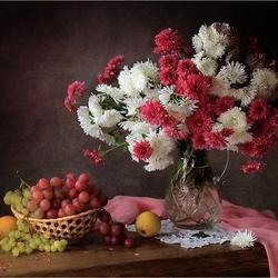 Пазл онлайн: Букет хризантем