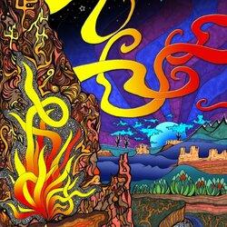 Пазл онлайн: Огонь в горах