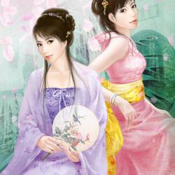 Пазл онлайн: Восточные красавицы