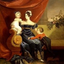 Пазл онлайн: Портрет императрицы Александры Фёдоровны с детьми