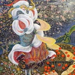 Пазл онлайн: Вечерний сад Иды