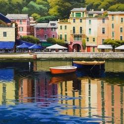 Пазл онлайн: Набережная Портофино