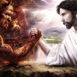 Пазл онлайн: Борьба добра со злом