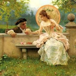 Пазл онлайн:  Момент в саду