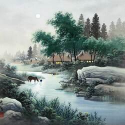 Пазл онлайн: Серебристая река