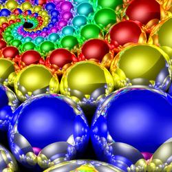 Пазл онлайн: Яркие шарики