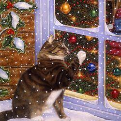 Пазл онлайн: Рождественский гость