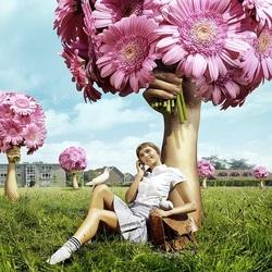 Пазл онлайн: Дарите девушкам цветы