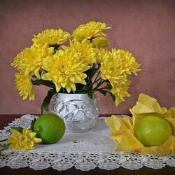 Пазл онлайн: Букет ярких, великолепных цветов