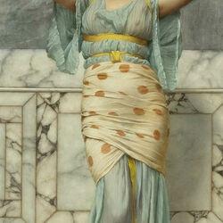Пазл онлайн: Красавица в мраморном зале
