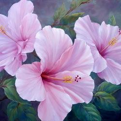 Пазл онлайн: Розовый гибискус