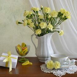 Пазл онлайн: Гвоздики и лимонные дольки