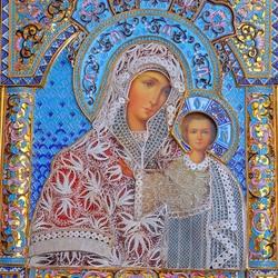 Пазл онлайн: Казанская икона Божьей Матери