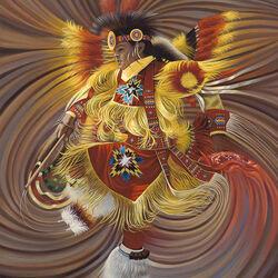 Пазл онлайн: Индейский шаман