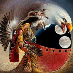 Пазл онлайн: Индейские тотемы