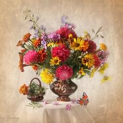 Пазл онлайн: Свежесть цветов