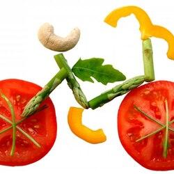 Пазл онлайн: Овощной велосипед