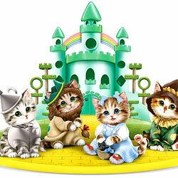Пазл онлайн: Кошечки