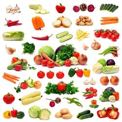 Пазл онлайн: Овощной набор