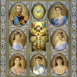 Пазл онлайн: Царственные мученики Романовы