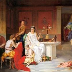 Пазл онлайн: Семейный вечер. Жители Помпеи