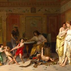 Пазл онлайн: Детская ссора. Жители Помпеи