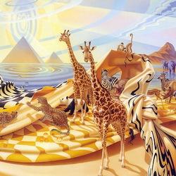 Пазл онлайн: Животный мир Африки