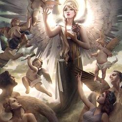 Пазл онлайн: Marisela, Deities' Herald \ Марисела, божественный вестник