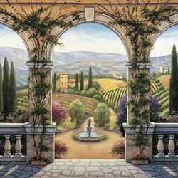 Пазл онлайн: Вилла в Тоскане