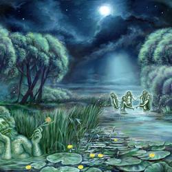 Пазл онлайн: Ночь на Ивана Купалу