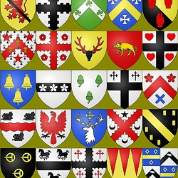 Пазл онлайн: Гербы шотландских кланов
