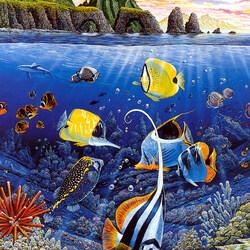 Пазл онлайн: Подводные обитатели