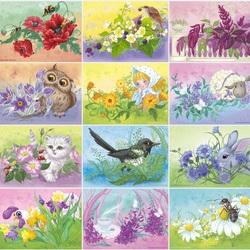 Пазл онлайн: Мир в цветах