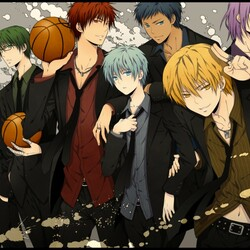 Пазл онлайн: Баскетбол Куроко