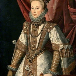 Пазл онлайн: Портрет Анны Австрийской
