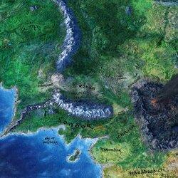 Пазл онлайн: Карта Средиземья