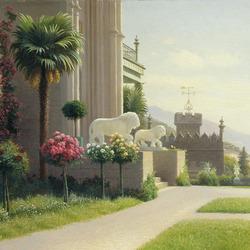 Пазл онлайн: Дворец графа Воронцова  в Алупке