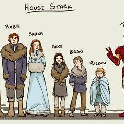 Пазл онлайн: House Stark / Старки