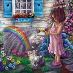 Пазл онлайн: Маленькая радуга