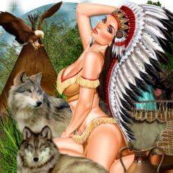 Пазл онлайн: Индейские истории