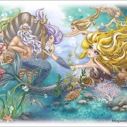 Пазл онлайн: Дочери морского царя