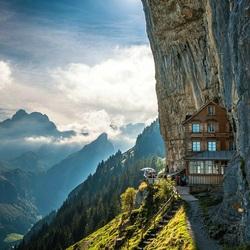 Пазл онлайн: Горный отель