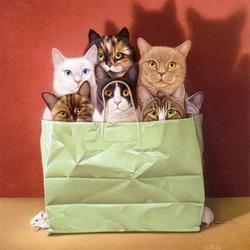 Пазл онлайн: Кошки и мышки